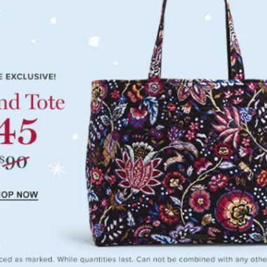 Vera Bradley Grand Tote Black Friday
