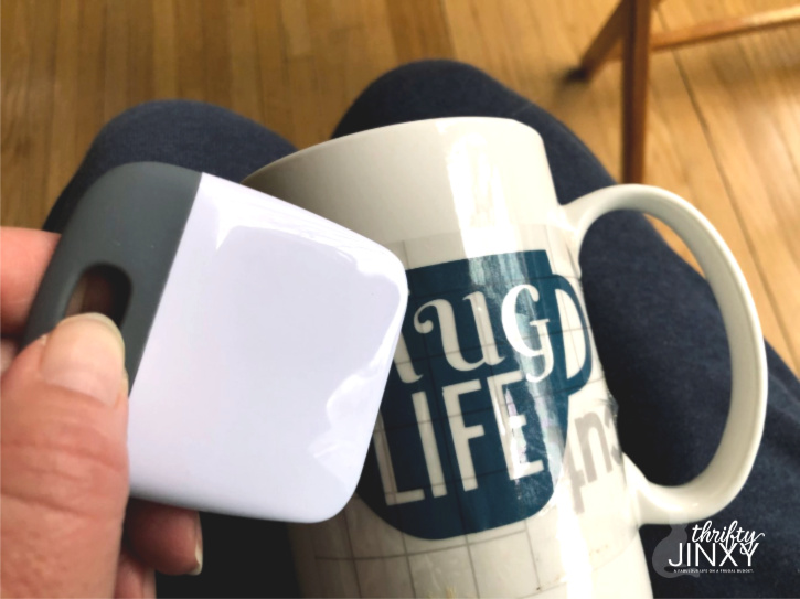 Apply Cricut Transfer Paper to Mug