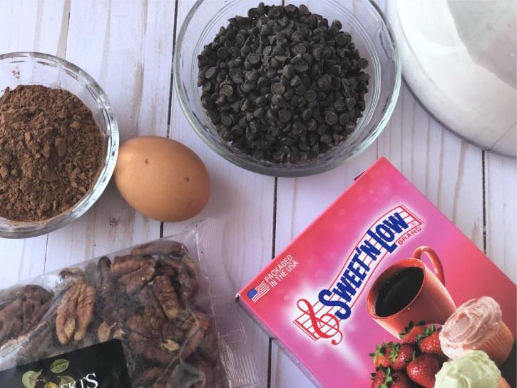 Chocolate Pecan Slice Cookie Ingredients