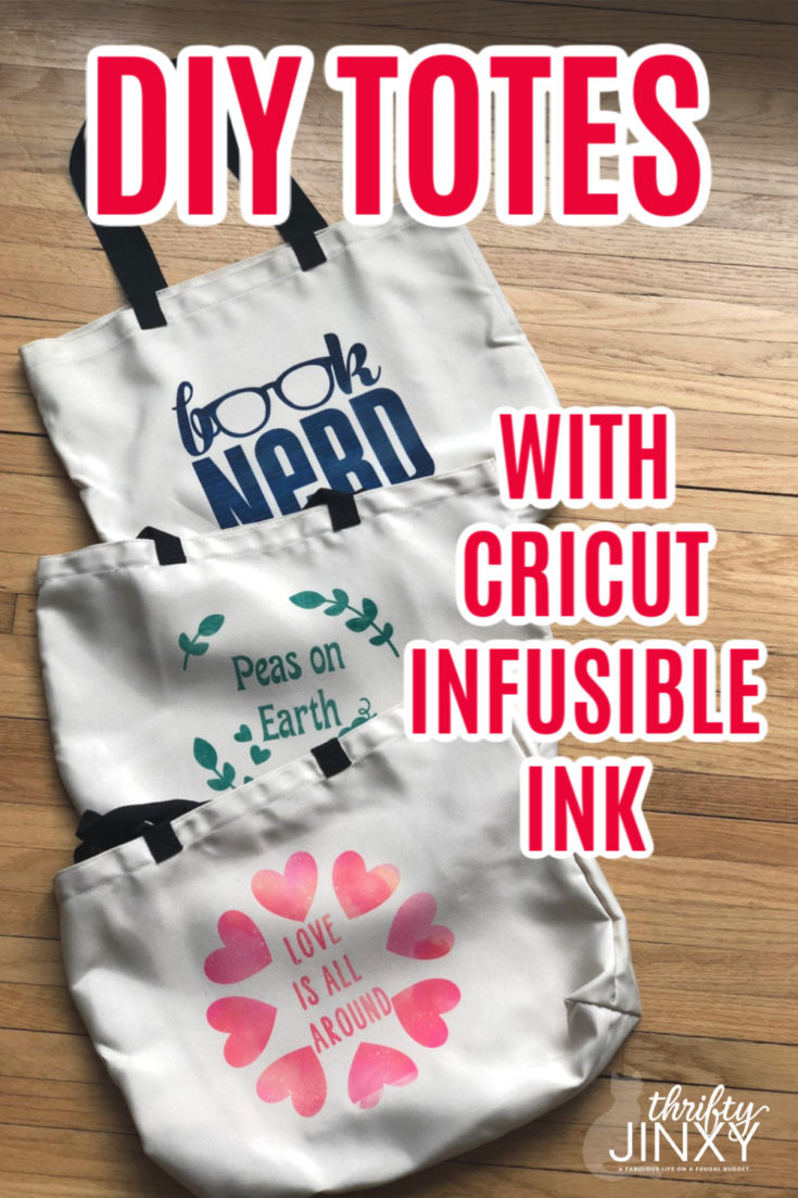 Cricut Infusible Ink helps you create a bright and beautiful tote bag perfect for shopping, carrying books, or everyday use. #CRICUT #infusibleink #totebag #DIY