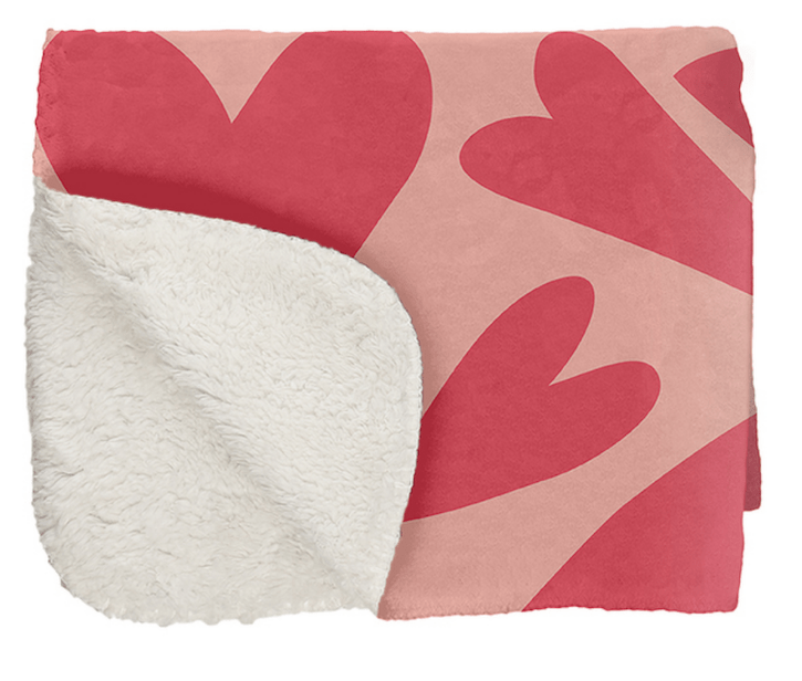 Erin Condren LOVE HEARTS SHERPA THROW