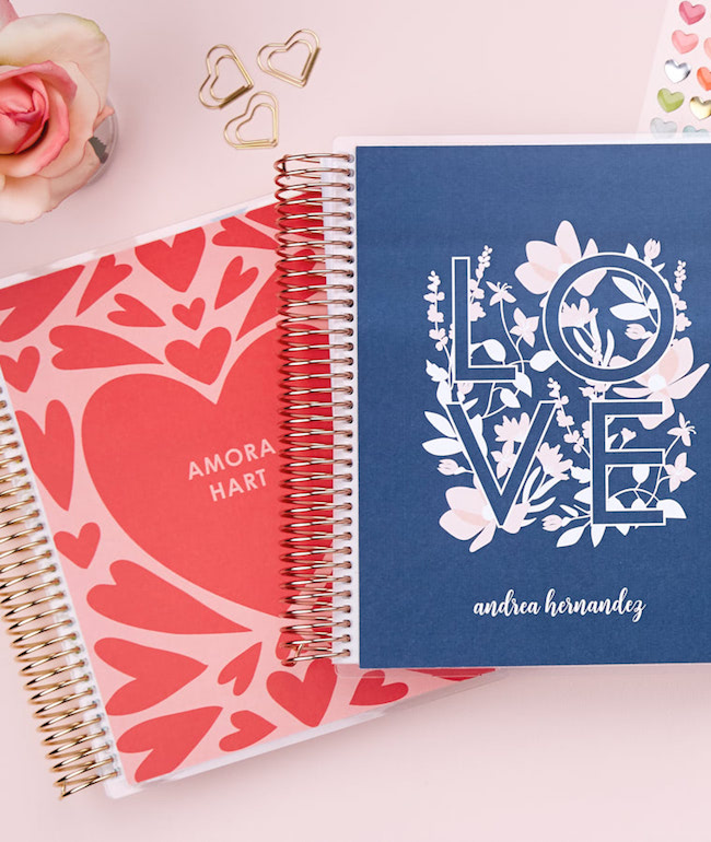 Erin Condren Valentine Heart Covers