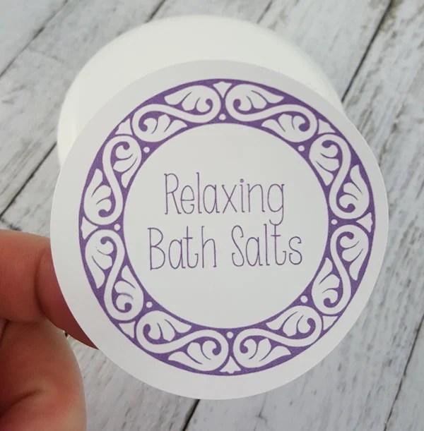 Free Printable Bath Salts Labels