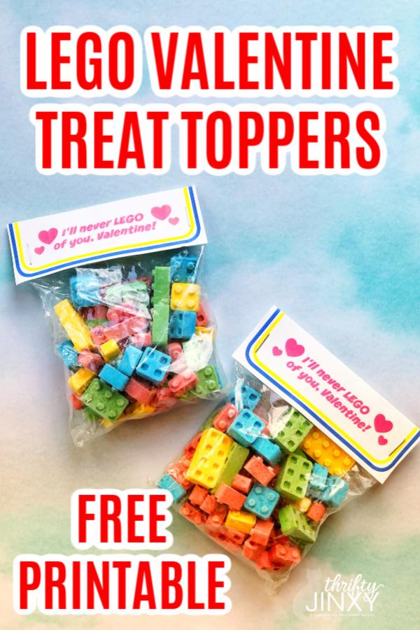 Free Printable LEGO Valentine Treat Topper