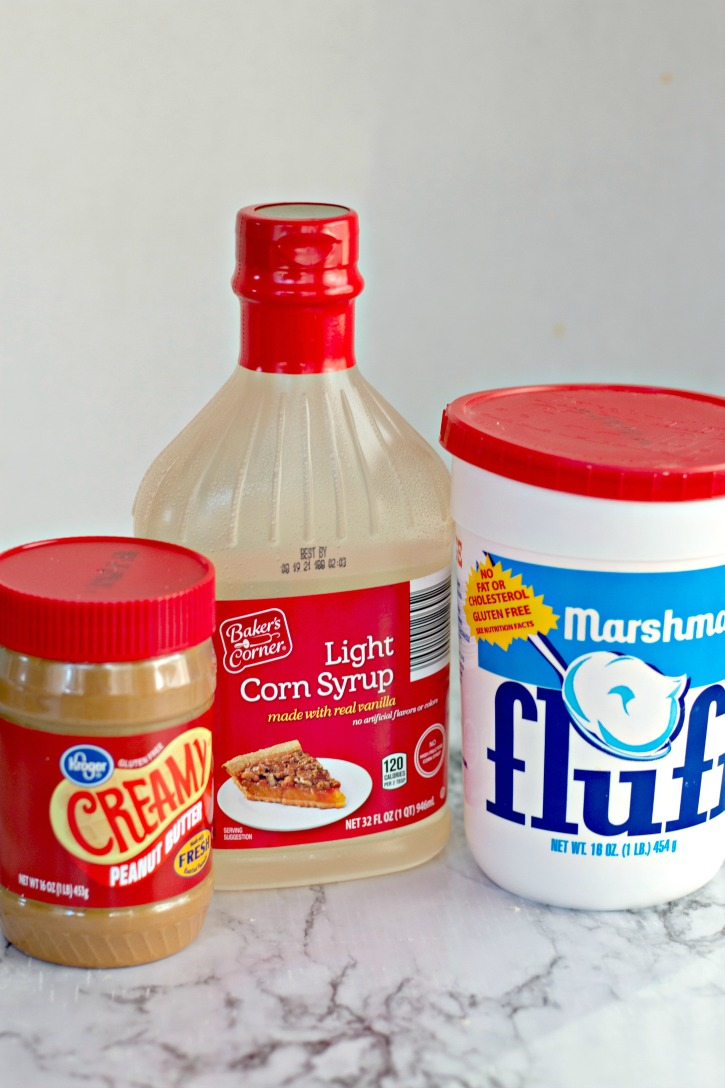 Homemade Amish Peanut Butter Spread ingredients needed