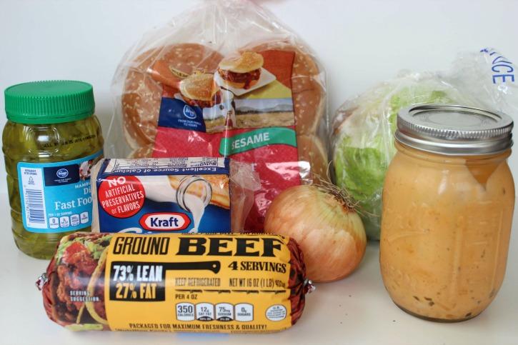 Copycat McDonald's Big Mac burger ingredients