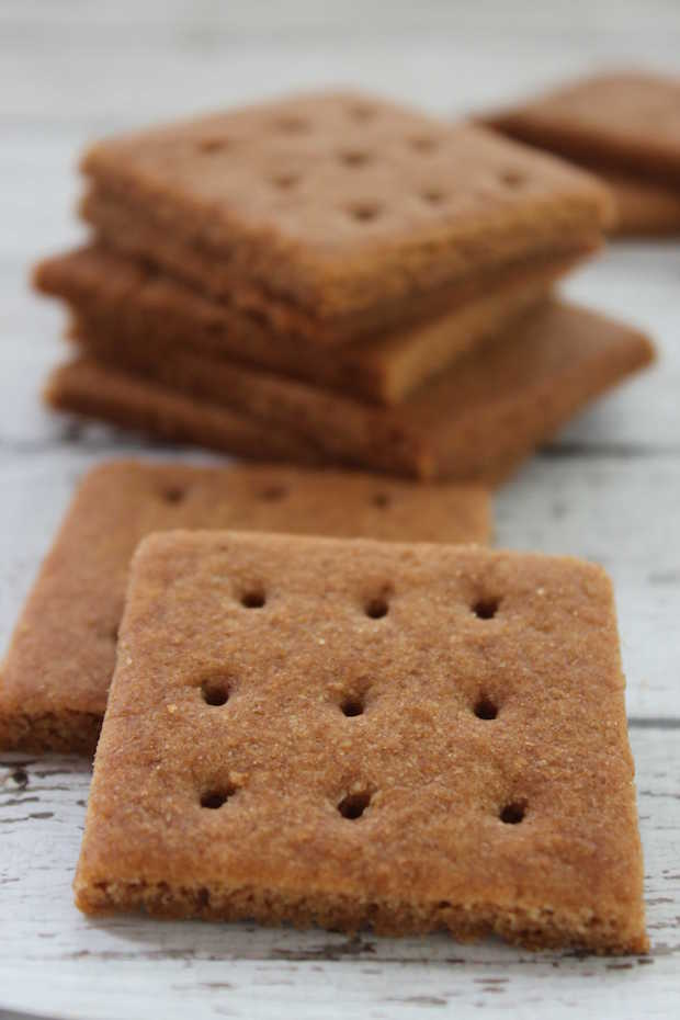Homemade Graham Crackers in Stack