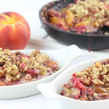 Skillet Peach Raspberry Crisp Recipe