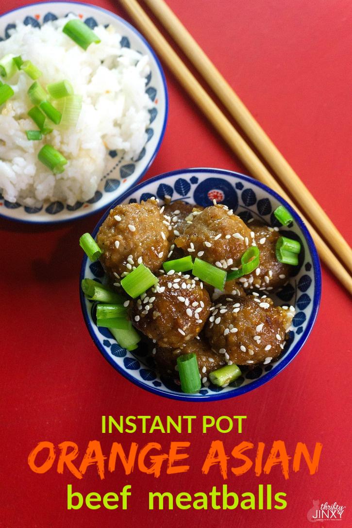 Instant Pot Orange Asian Beef Meatballs Recipe