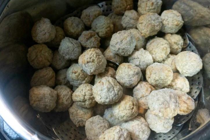 Instant Pot Orange Asian Beef Meatballs process