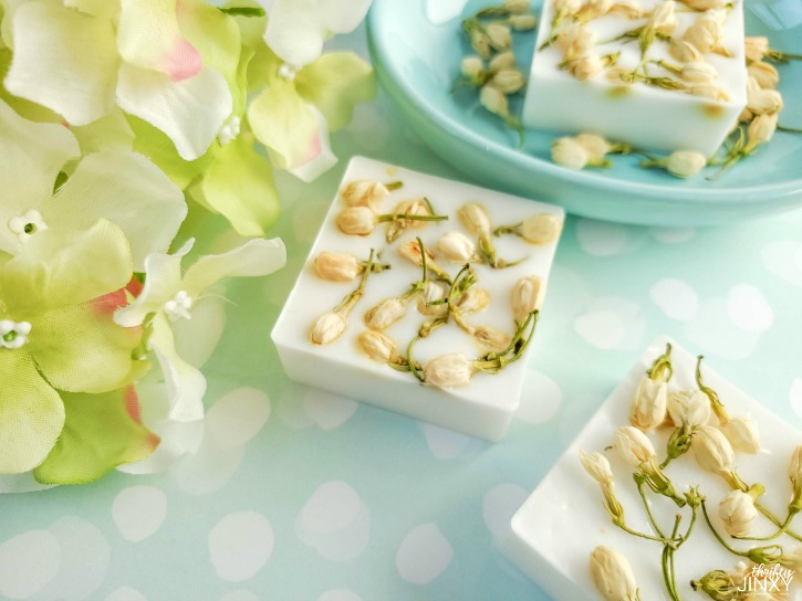 Easy DIY Jasmine Flower Soap