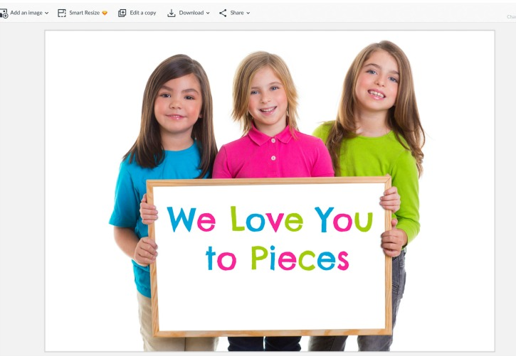 Love You to Pieces Picture Frame Screenshot process