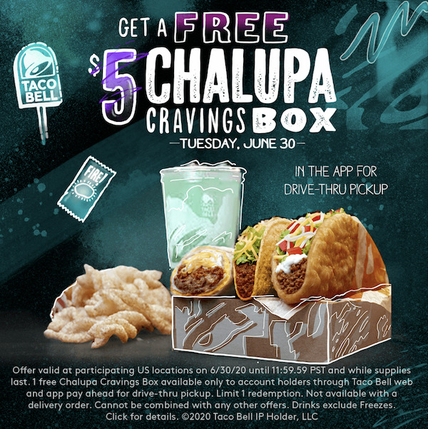 Taco Bell Chalupa Cravings Box
