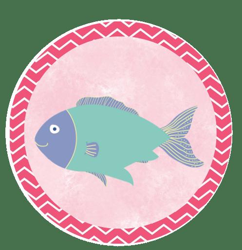 FISH CUPCAKE TOPPER