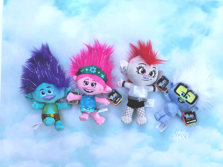 Trolls World Tour Plush Toys Branch Poppy Barb Tiny Diamond