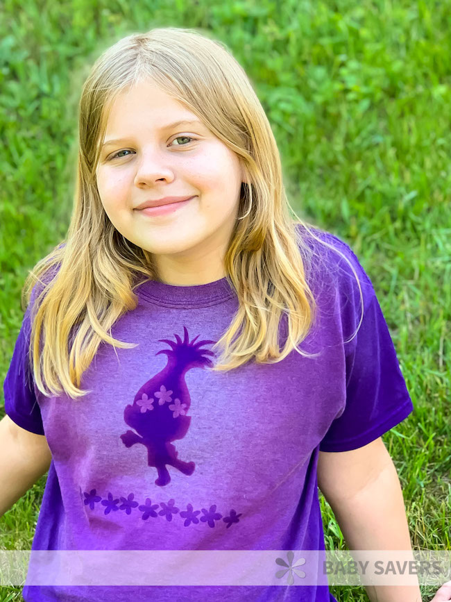 Trolls Bleach Dye TShirt Craft