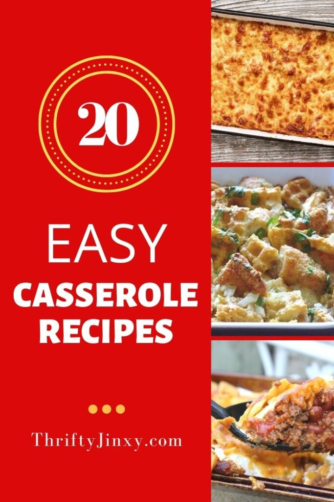 20 EASY CASSEROLE RECIPES