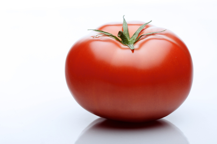 tomato on white background