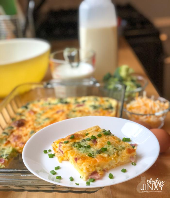 Cheesy Ham and Broccoli Quiche