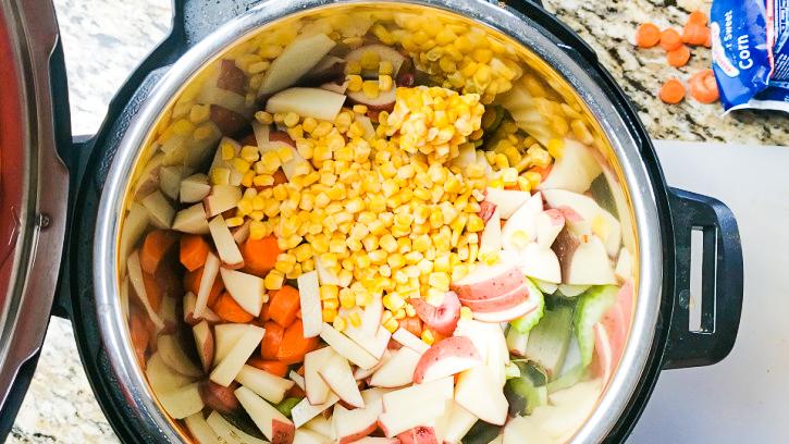 Instant Pot Corn Soup Ingredients