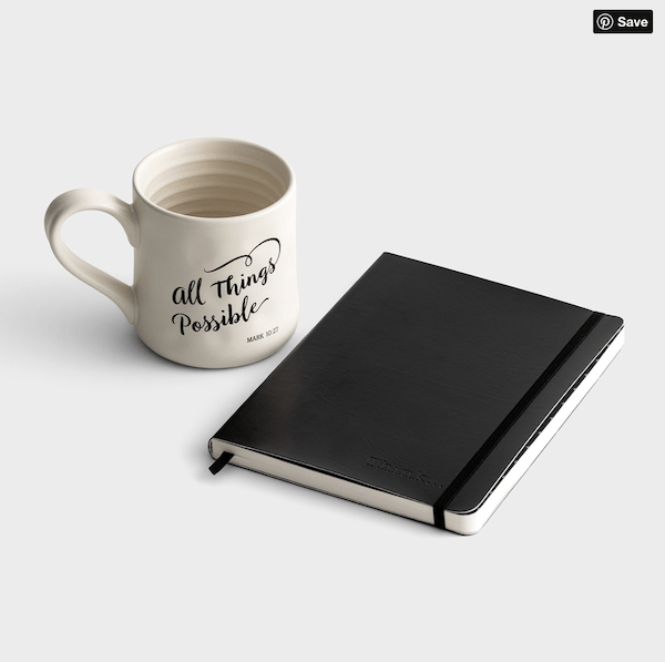 All Things Possible Mug and Journal Gift Set