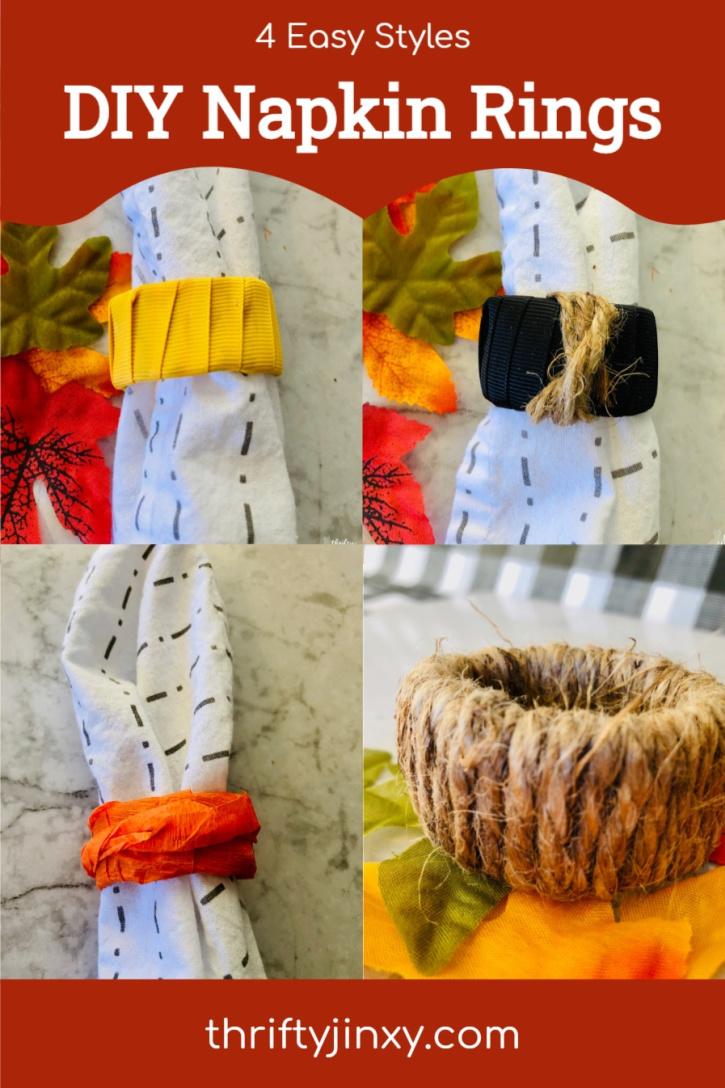 DIY Napkin Rings - 4 Easy Styles