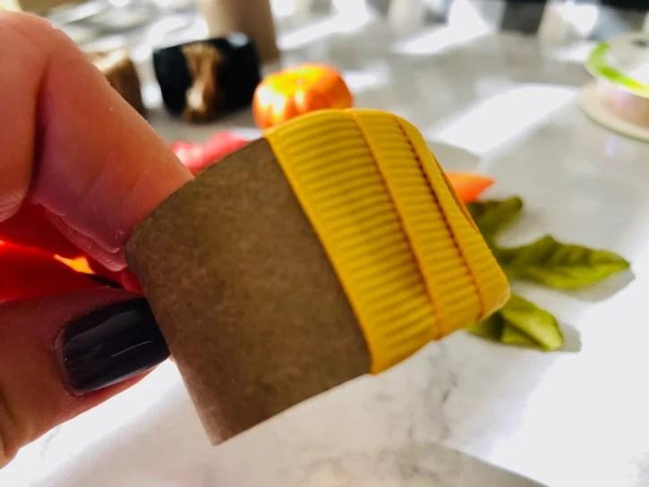 DIY Napkin Rings process