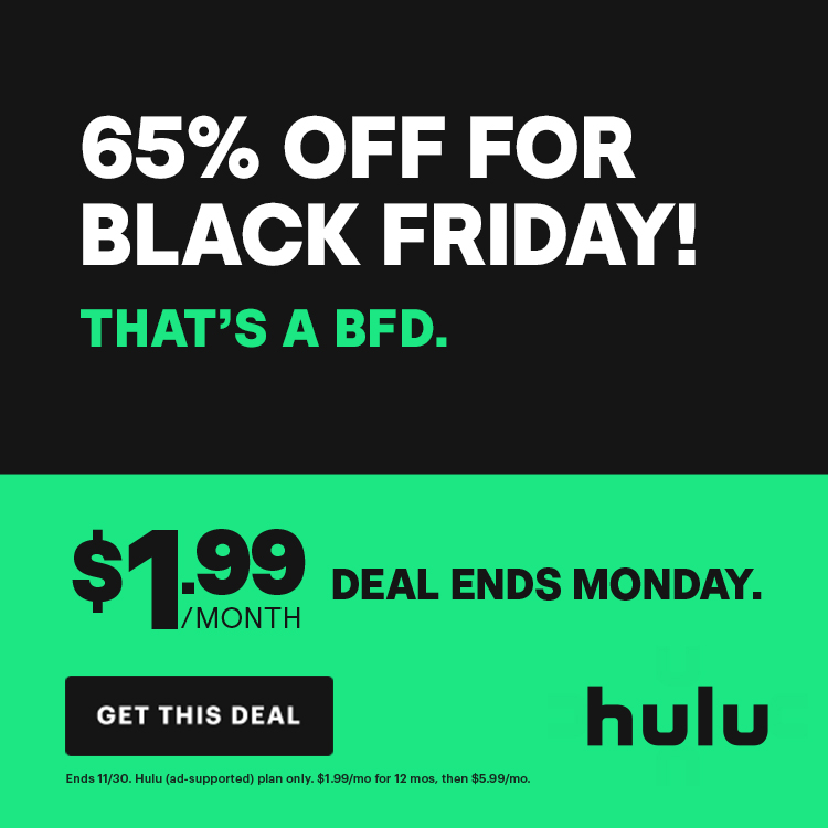 Hulu Black Friday Deak