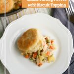 Skillet Turkey Pot Pie with Biscuit Topping Recipe