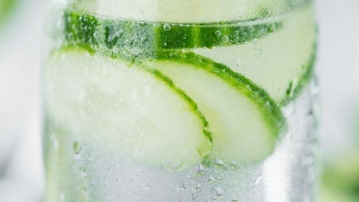 Cucumber Water in Jar