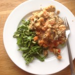 Leftover chicken and vegetable crumble, 47p
