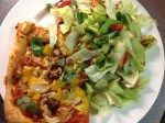 Rubber Chicken (1) Pizza & Salad 46p