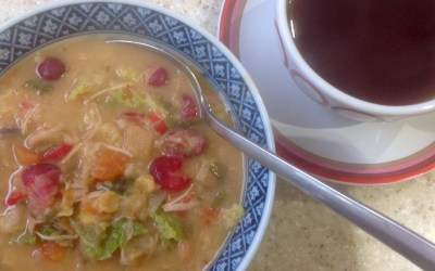 Turkey and cranberry soup