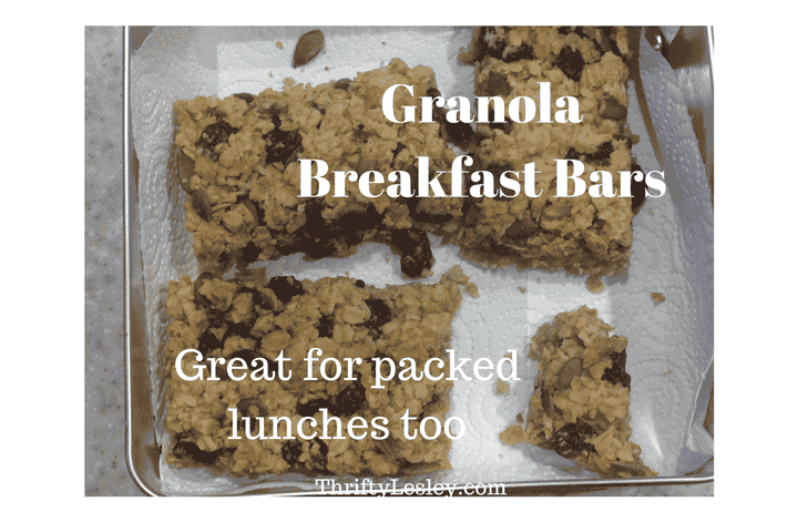 Gorgeous Granola Breakfast Bars, 24p. Super simple to make