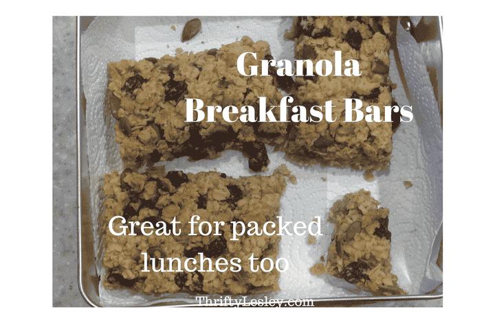Gorgeous Granola Breakfast Bars, 24p. Super simple to make