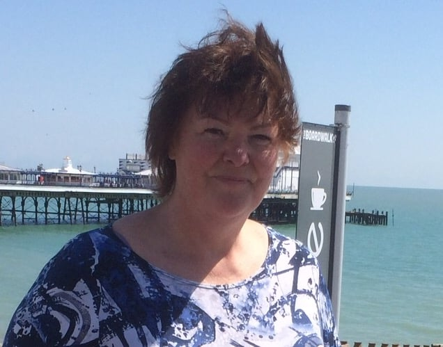 Lesley at Eastbourne