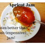 Home made apricot jam. A bargaintastic 39p a jar! Fresh and wonderful, and better than even the poshest versions you can buy!