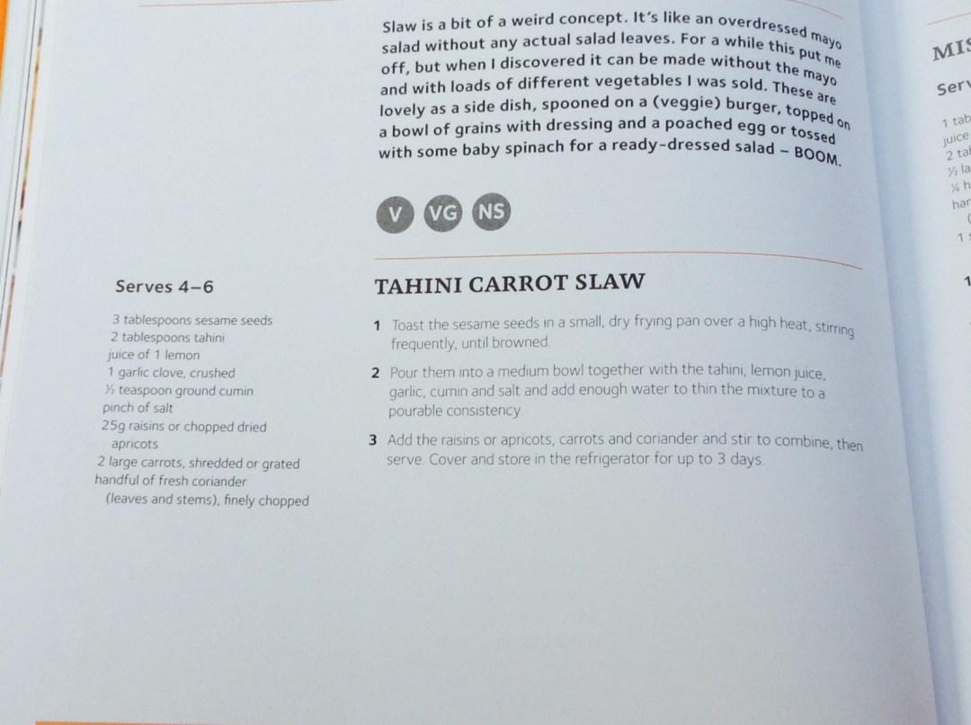 Tahini carrot slaw