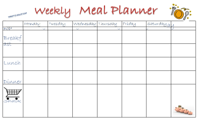 Would generic weekly meals help you meal plan?