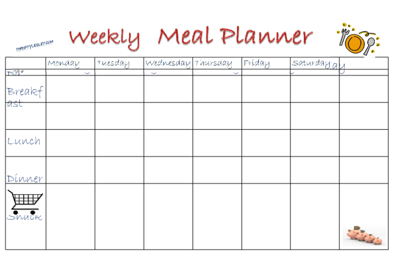 would generic weekly meals help you meal plan thrifty lesley