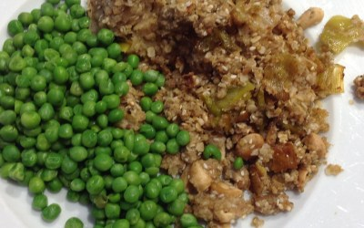 Chicken and leek crumble
