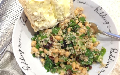 Bean and Quinoa, Lemon and Herb Salad