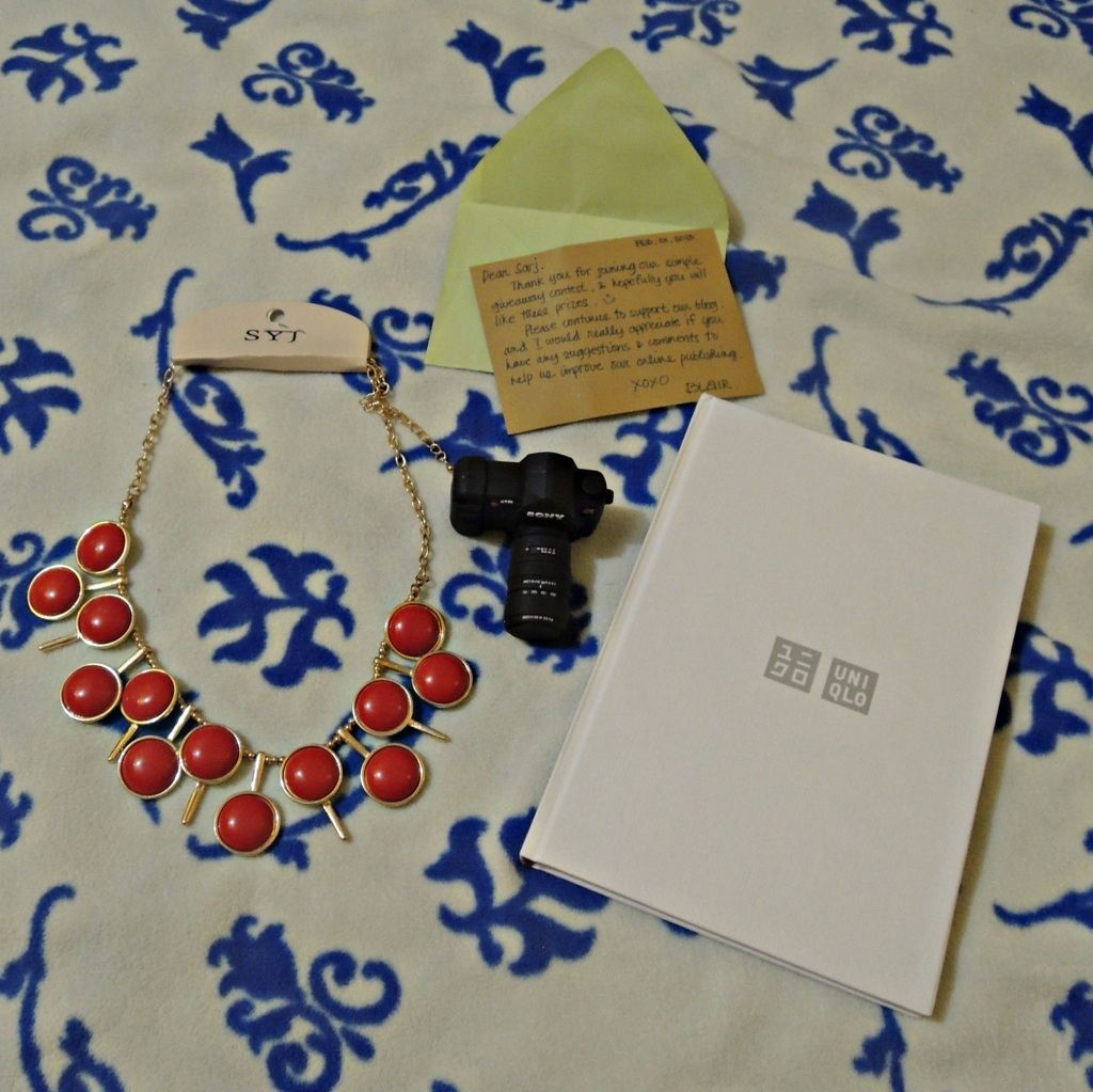 Necklace and Canon DLSR-inspired flash drive (2GB) - Chris and Georges Manila | 2013 UNIQLO Philippines Planner
