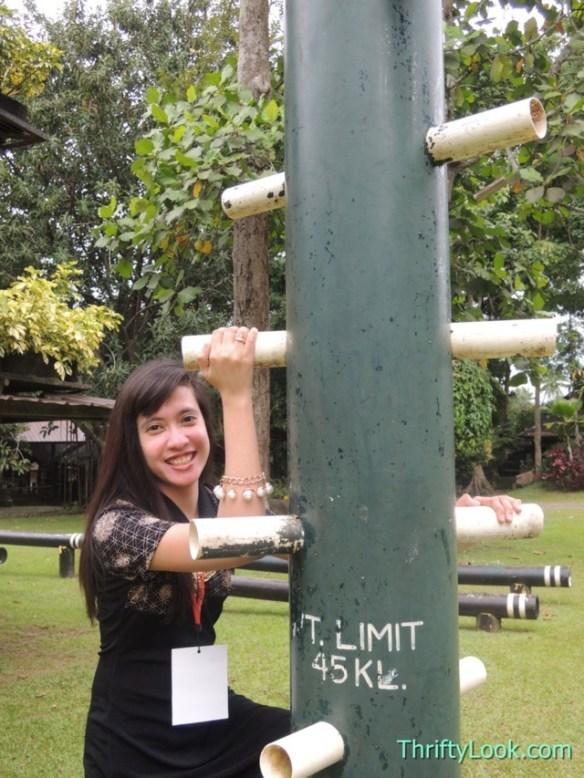 malagos garden resort, davao, park, sculpture, stairs, climb pole