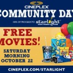 Cineplex and Free Movies on Community Day #ldnont and across Canada