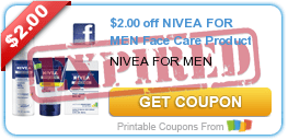$2.00 off NIVEA FOR MEN Face Care Product