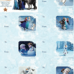 Frozen Christmas Gift Tags Printable