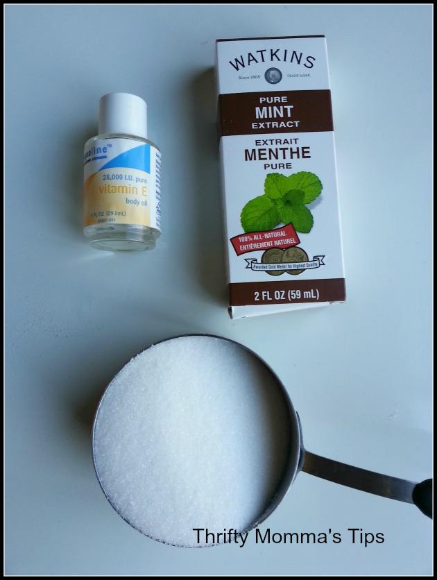 mint body scrub ingredients