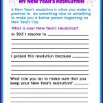 Children's New Year's Resolutions Printable