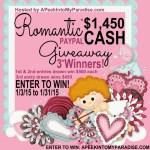 Romantic Cash #Giveaway Three Winners
